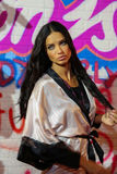 LONDON, ENGLAND - DECEMBER 02: Adriana Lima poses backstage at the annual Victoria's Secret fashion show Stock Photography