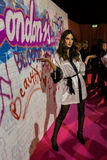 LONDON, ENGLAND - DECEMBER 02: Alessandra Ambrosio backstage at the annual Victoria's Secret fashion show Royalty Free Stock Images