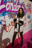 LONDON, ENGLAND - DECEMBER 02: Alessandra Ambrosio backstage at the annual Victoria's Secret fashion show Royalty Free Stock Image
