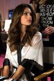 LONDON, ENGLAND - DECEMBER 02: Alessandra Ambrosio backstage at the annual Victoria's Secret fashion show Stock Photo