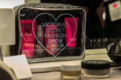 LONDON, ENGLAND - DECEMBER 02: Atmosphere backstage at the annual Victoria's Secret fashion show Stock Image