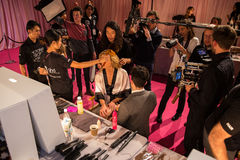 LONDON, ENGLAND - DECEMBER 02: Atmosphere backstage at the annual Victoria's Secret fashion show Royalty Free Stock Photos