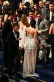 LONDON ENGLAND - DECEMBER 02: Gäster deltar i den Victoria's Secret modeshowen 2014 Front Row & Pre-coctail mottagande Arkivbilder