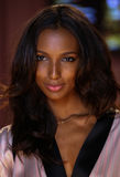 LONDON, ENGLAND - DECEMBER 02: Jasmine Tookes poses backstage at the annual Victoria's Secret fashion show Royalty Free Stock Photos