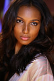 LONDON, ENGLAND - DECEMBER 02: Jasmine Tookes poses backstage at the annual Victoria's Secret fashion show Stock Image