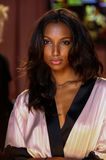 LONDON, ENGLAND - DECEMBER 02: Jasmine Tookes poses backstage at the annual Victoria's Secret fashion show Royalty Free Stock Photo