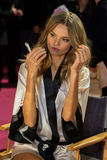 LONDON, ENGLAND - DECEMBER 02: Magdalena Frackowiak backstage at the annual Victoria's Secret fashion show Stock Image