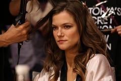 LONDON, ENGLAND - DECEMBER 02: Model Kasia Struss is seen backstage Stock Photos