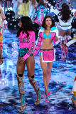 LONDON, ENGLAND - DECEMBER 02: Models during 2014 VS Fashion Show finale Royalty Free Stock Images