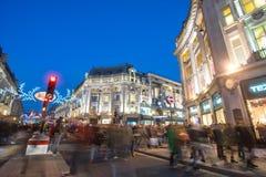 LONDON, ENGLAND – DECEMBER 30, 2014: Oxford street on sale sea Royalty Free Stock Photography
