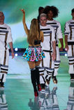 LONDON, ENGLAND - DECEMBER 02: Singer Ariana Grande performs during the 2014 Victoria's Secret Fashion Show Royalty Free Stock Photo