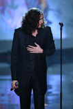 LONDON, ENGLAND - DECEMBER 02: Singer Hozier performs during the 2014 Victoria's Secret Fashion Show Stock Photos