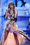 LONDON, ENGLAND - DECEMBER 02: Singer Taylor Swift walks on the runway during the 2014 Victoria's Secret Fashion Show Royalty Free Stock Photos