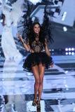 LONDON, ENGLAND - DECEMBER 02: Victoria's Secret model Adriana Lima walks the runway Stock Photos