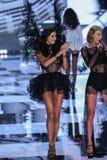 LONDON, ENGLAND - DECEMBER 02: Victoria's Secret model Adriana Lima walks the runway Stock Photo