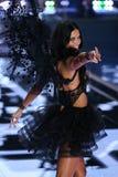 LONDON, ENGLAND - DECEMBER 02: Victoria's Secret model Adriana Lima walks the runway Royalty Free Stock Images