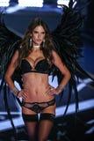 LONDON, ENGLAND - DECEMBER 02: Victoria's Secret model Alessandra Ambrosio walks the runway Stock Photos
