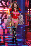 LONDON, ENGLAND - DECEMBER 02: Victoria's Secret model Barbara Fialho walks the runway Stock Photos