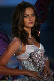 LONDON, ENGLAND - DECEMBER 02: Victoria's Secret model Barbara Fialho walks the runway Royalty Free Stock Images