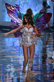 LONDON, ENGLAND - DECEMBER 02: Victoria's Secret model Barbara Fialho walks the runway Stock Photo