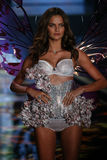 LONDON, ENGLAND - DECEMBER 02: Victoria's Secret model Barbara Fialho walks the runway Royalty Free Stock Image