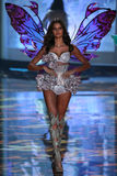 LONDON, ENGLAND - DECEMBER 02: Victoria's Secret model Barbara Fialho walks the runway Royalty Free Stock Photos