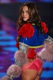 LONDON, ENGLAND - DECEMBER 02: Victoria's Secret model Barbara Fialho walks the runway Stock Image