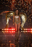 LONDON, ENGLAND - DECEMBER 02: Victoria's Secret model Behati Prinsloo walks the runway Stock Image