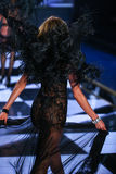 LONDON, ENGLAND - DECEMBER 02: Victoria's Secret model Candice Swanepoel walks the runway Royalty Free Stock Photography