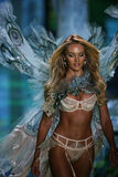 LONDON, ENGLAND - DECEMBER 02: Victoria's Secret model Candice Swanepoel walks the runway Stock Image