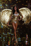 LONDON, ENGLAND - DECEMBER 02: Victoria's Secret model  Cindy Bruna walks the runway Royalty Free Stock Image