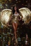 LONDON, ENGLAND - DECEMBER 02: Victoria's Secret model  Cindy Bruna walks the runway Royalty Free Stock Image