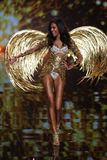 LONDON, ENGLAND - DECEMBER 02: Victoria's Secret model  Cindy Bruna walks the runway Royalty Free Stock Images