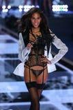 LONDON, ENGLAND - DECEMBER 02: Victoria's Secret model Cindy Bruna walks the runway Royalty Free Stock Images