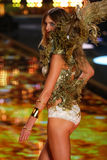 LONDON, ENGLAND - DECEMBER 02: Victoria's Secret model Constance Jablonski walks the runway Royalty Free Stock Image