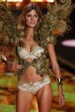 LONDON, ENGLAND - DECEMBER 02: Victoria's Secret model Constance Jablonski walks the runway Royalty Free Stock Photography