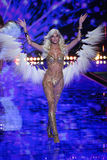 LONDON, ENGLAND - DECEMBER 02: Victoria's Secret model Devon Windsor walks the runway Royalty Free Stock Image