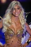 LONDON, ENGLAND - DECEMBER 02: Victoria's Secret model Devon Windsor walks the runway Royalty Free Stock Photo