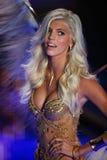 LONDON, ENGLAND - DECEMBER 02: Victoria's Secret model Devon Windsor walks the runway Royalty Free Stock Image