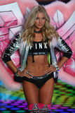 LONDON, ENGLAND - DECEMBER 02: Victoria's Secret model Elsa Hosk walks the runway Royalty Free Stock Image