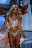 LONDON, ENGLAND - DECEMBER 02: Victoria's Secret model Elsa Hosk walks the runway Royalty Free Stock Photography
