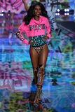 LONDON, ENGLAND - DECEMBER 02: Victoria's Secret model Grace Mahary walks the runway Royalty Free Stock Photos