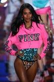 LONDON, ENGLAND - DECEMBER 02: Victoria's Secret model Grace Mahary walks the runway Royalty Free Stock Photography