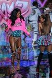 LONDON, ENGLAND - DECEMBER 02: Victoria's Secret model Grace Mahary walks the runway Stock Photos
