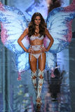 LONDON, ENGLAND - DECEMBER 02: Victoria's Secret model Izabel Goulart walks the runway Stock Photo