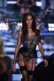 LONDON, ENGLAND - DECEMBER 02: Victoria's Secret model Joan Smalls walks the runway Royalty Free Stock Photography