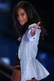 LONDON, ENGLAND - DECEMBER 02: Victoria's Secret model Joan Smalls walks the runway Stock Photography