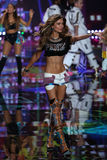 LONDON, ENGLAND - DECEMBER 02: Victoria's Secret model Josephine Skriver walks the runway Royalty Free Stock Photo