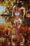 LONDON, ENGLAND - DECEMBER 02: Victoria's Secret model Karlie Kloss walks the runway Stock Photos