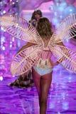 LONDON, ENGLAND - DECEMBER 02: Victoria's Secret model Karlie Kloss walks the runway Royalty Free Stock Image